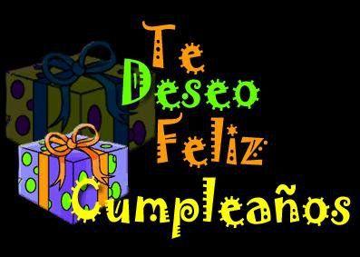 Te deseo feliz cumpleaños