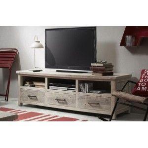 Mesa de televisión fabricada con palets de madera