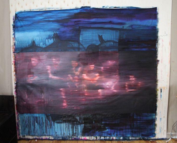 Garden, 2013. Oil and acrylics on canvas.
