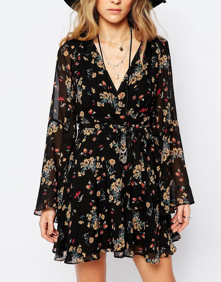 Image 3 of Free People Chiffon Lilou Dress in Black Print