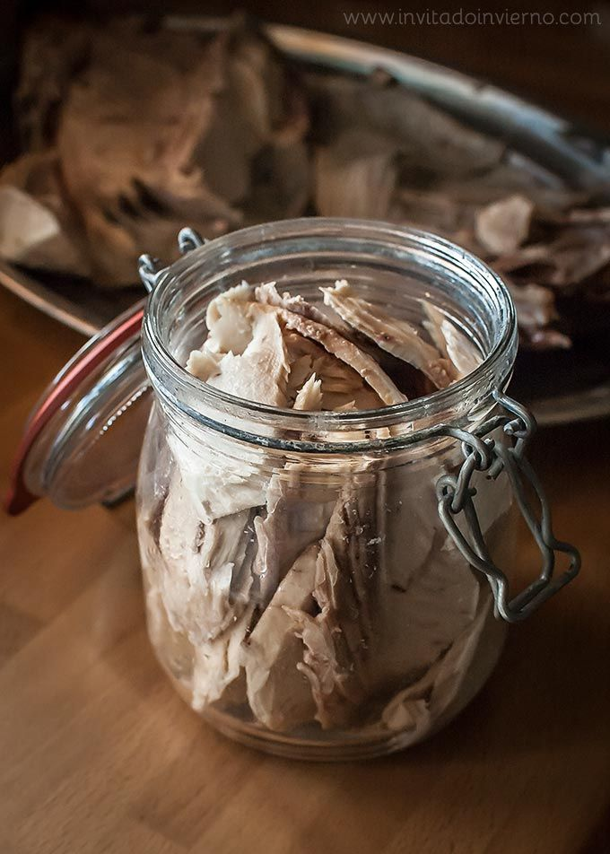 Ventresca de atún en aceite, conserva casera | Recetas con fotos paso a paso El invitado de invierno