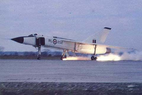 Avro Arrow (RL-202) (difficulties on landing)