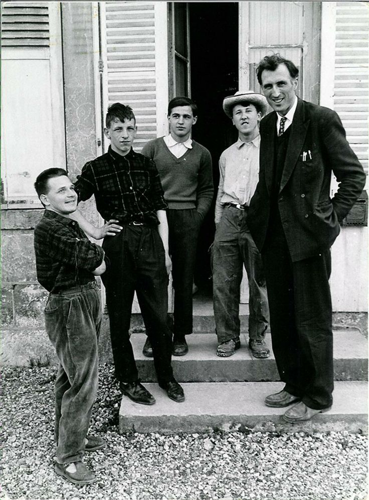 In front of the first L'Arche home in Trosly, 1966