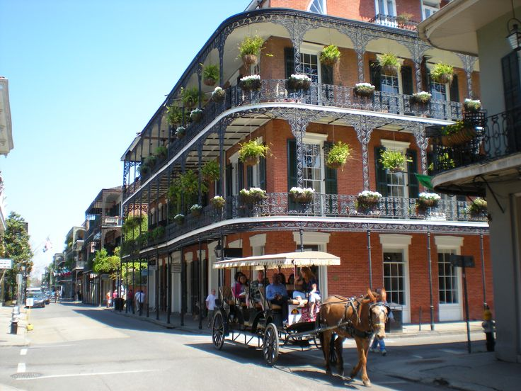 French Quarter - New Orleans. No place like it.  Go to Brennan's restaurant and order the Crepe fruit' da mer (apologies) if they still have it.  Still one of my taste ideals since the 1970s.