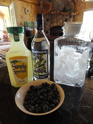 blueberry lemonade.... I've been making this for mooooooonths.