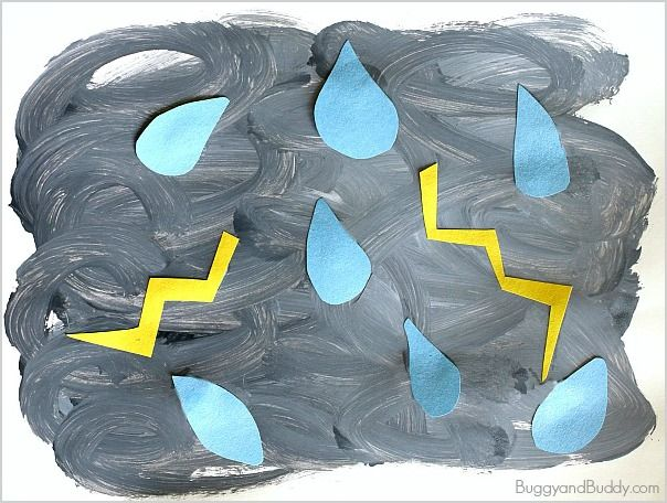 Weather Activities for Kids: Thunderstorm Art Project (perfect for toddlers, preschoolers, and kindergarteners)~ BuggyandBuddy.com