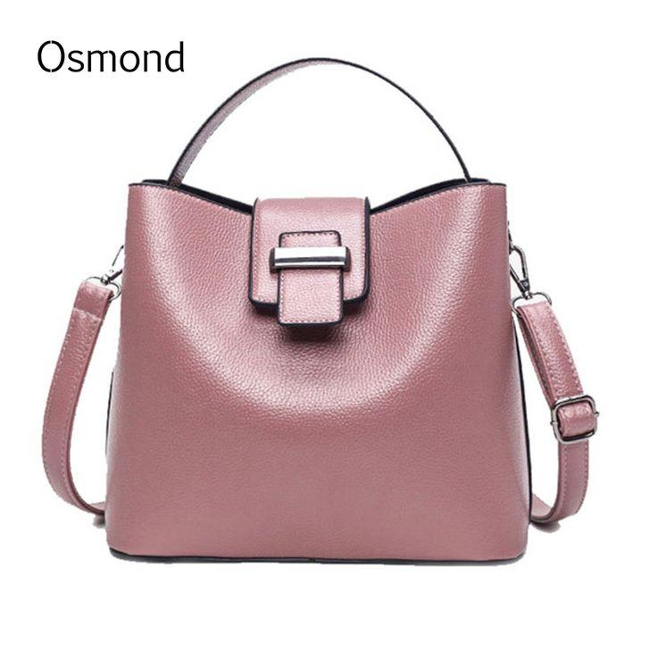 2017 Designer Women Handbags High Quality Bucket Bag Leather Messenger Bags For Girls Crossbody Solid Shoulder Totes Hand Bag