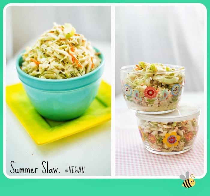 6 Summer Slaws to Try! + My New Easy Vegan Summer Slaw. #salad
