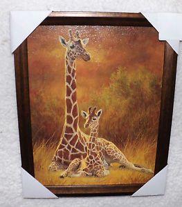 Safari Home Decor Framed Picture Wall Art Plaque Safari Home Decor Jungle Baby New