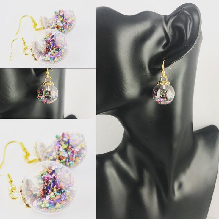 Gemstone chips earrings