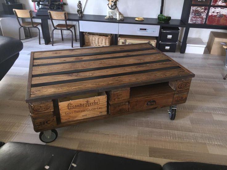 table de salon avec palette table basse de salon fabriqu e a partir de palettes et
