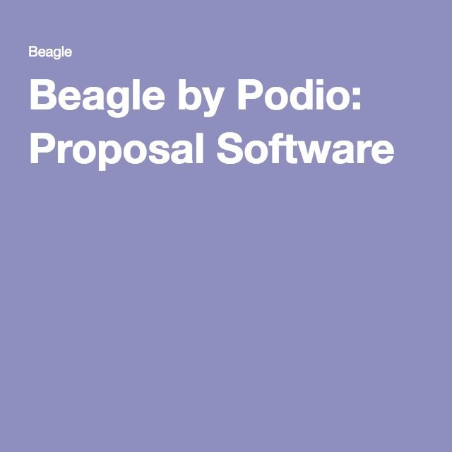 Beagle by Podio: Proposal Software