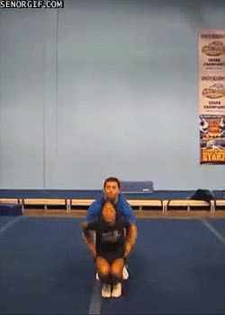 Extreme cheerleading. You have to click it to see the gif
