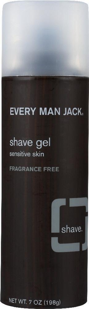 EVERY MAN JACK: Sensitive Skin Shave Gel Fragrance Free, 7 oz