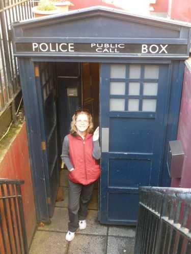 5 Things Whovians MUST DO in Cardiff, Wales // I haven't taken the group tours, but I got an even better personal tour of DW locations around Cardiff. My hotel room literally looked out over this TARDIS bar entrance.
