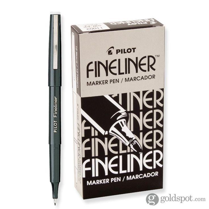 Pilot FineLiner 12 Pack Black Marker Pen