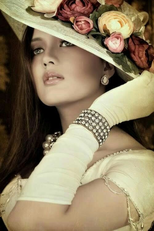 Картинки красивые дамы в шляпах