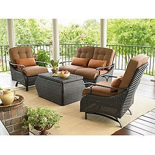 Captivating La Z Boy Outdoor Austin 4 Pc. Seating Set | Online Only | Nice Ideas
