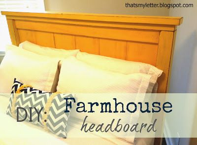 "That's My Letter: ""F"" is for Farmhouse headboard"