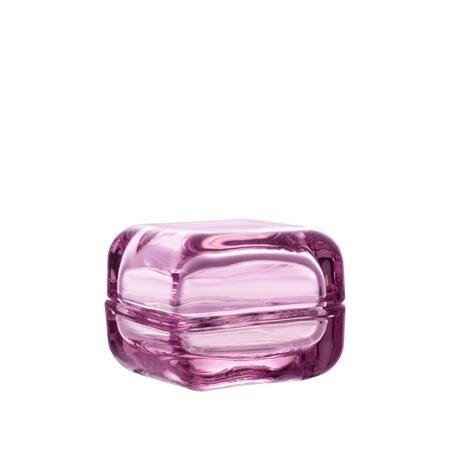 pink glass box by iitala