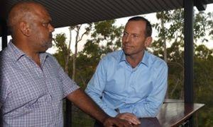 Noel Pearson with Tony Abbott in Arnhem Land