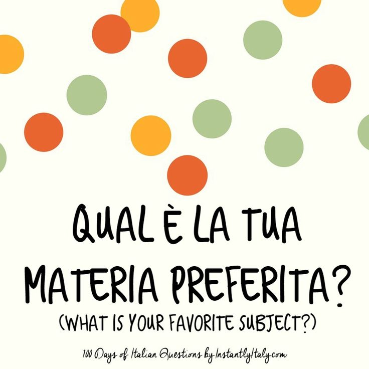 16/100 - 100 Days of Italian Questions on Instagram