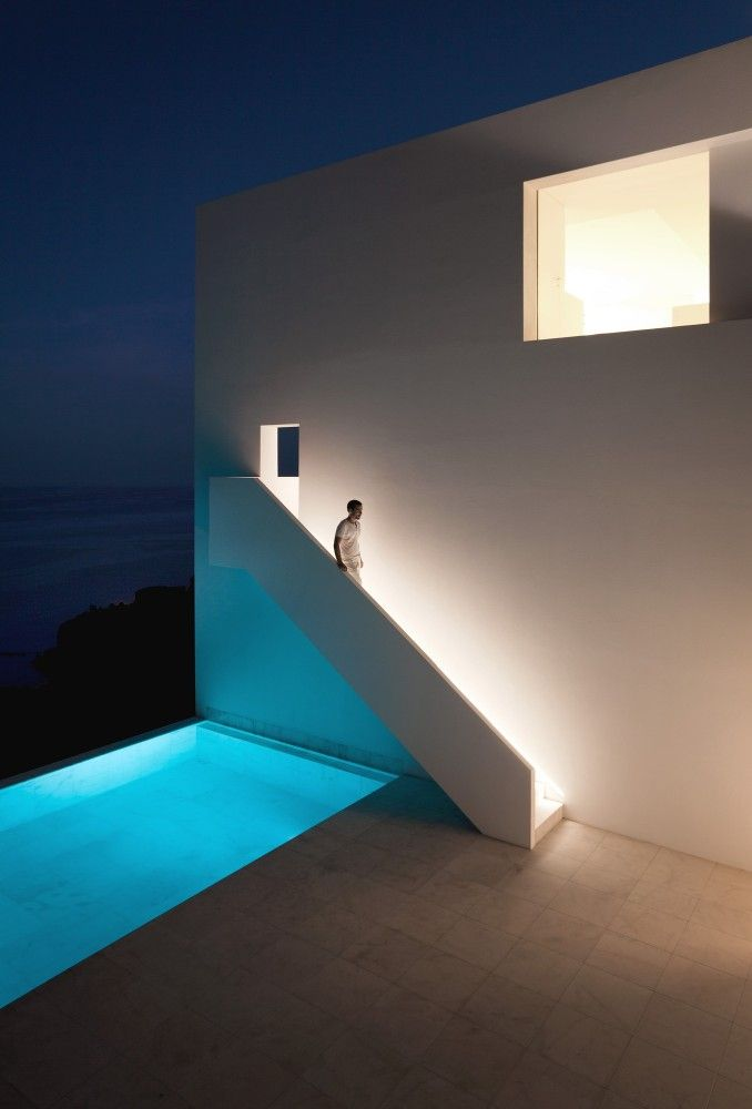 House on the Cliff, by Fran Silvestre Arquitectos / Calpe, Alicante, Spain