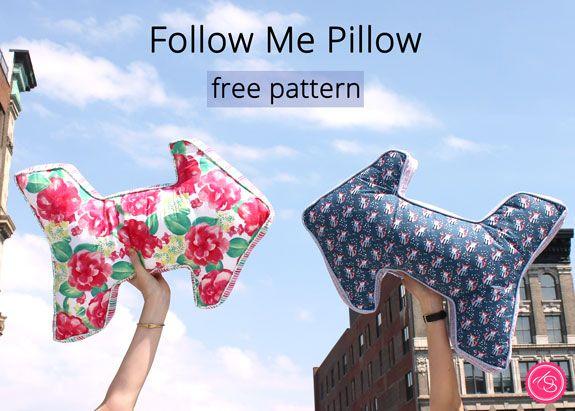 Free Pattern // Follow Me Pillow | Dear Stella Design