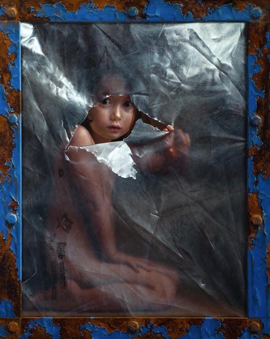 """Marina dieul- Le Défi Oil on panel, 30"""" x 24"""""""