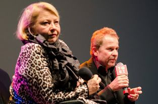 Margarete Tiesel and Ulrich Seidl during meeting with audience at Tofifest filmfestival (2013); Sedil is laureate of special Tofifest Golden Angel for artistic defiance  www.tofifest.pl :: www.twitter.com/tofifest :: www.facebook.com/tofifest