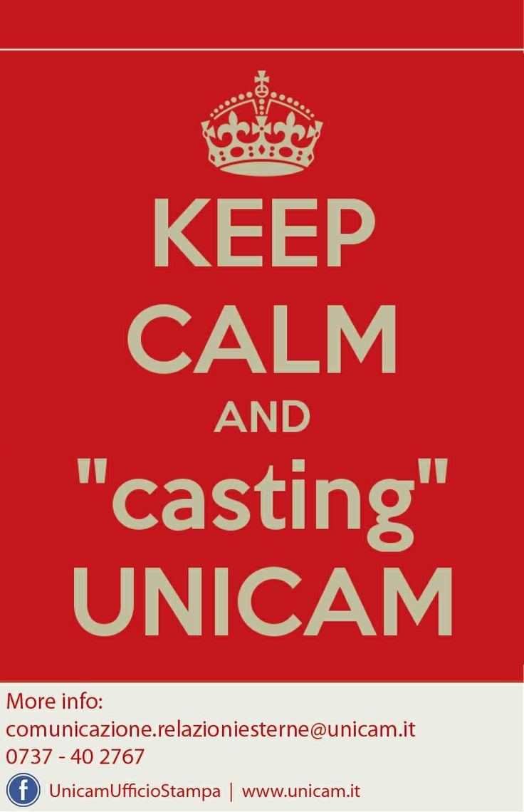 KEEP CALM and CASTING UNICAM
