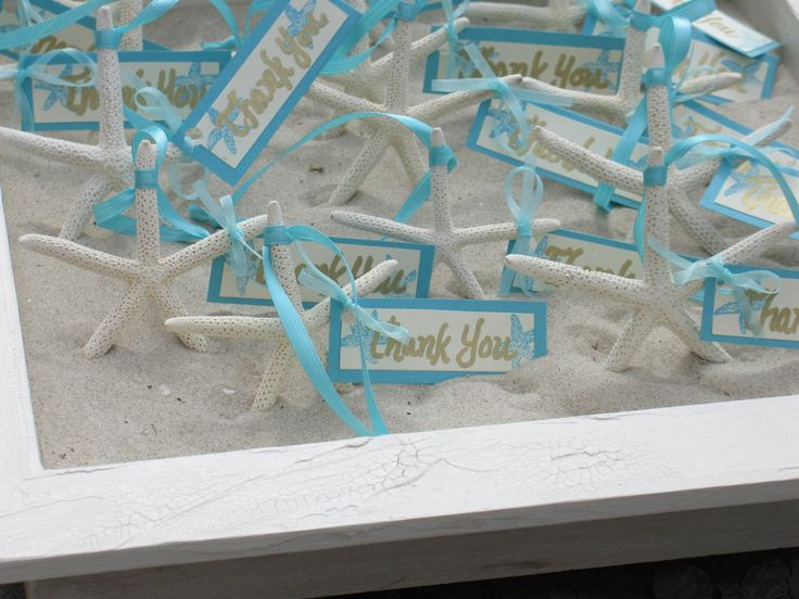 Beach Wedding Decorations Sugar Starfish Favors Placecards Table Assignments. $2.75, via Etsy.