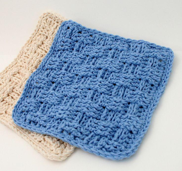 Knitting Pattern Basket Weave Dishcloth : Crochet Basket Weave Dishcloth Pattern Crochet Pinterest Crochet, Dishc...