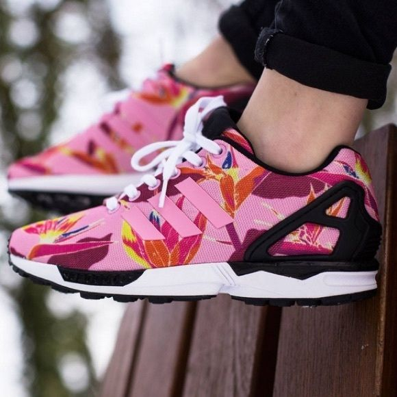 e5322e4b2e71f ... Adidas ZX Flux in light Pink Floral Simple and modern