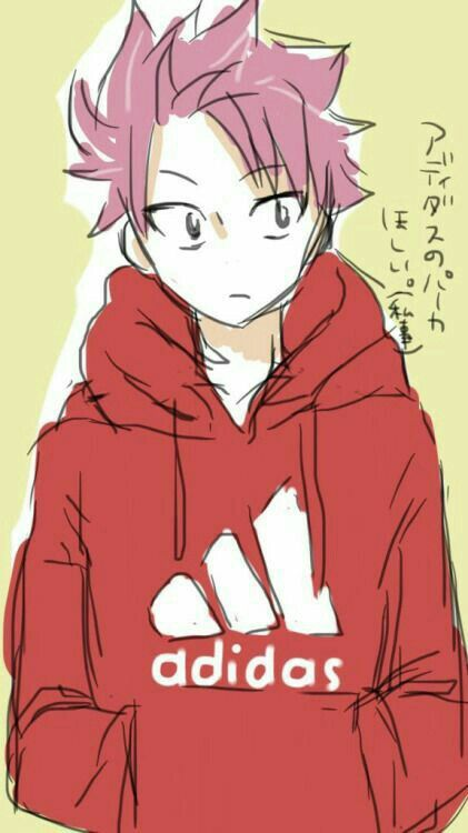 natsu dragneel cute adidas sweatshirt hoodie text