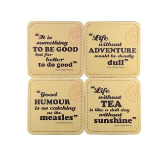 Robert Baden-Powell Quotes Coasters (ones on right hand side or just tea one)