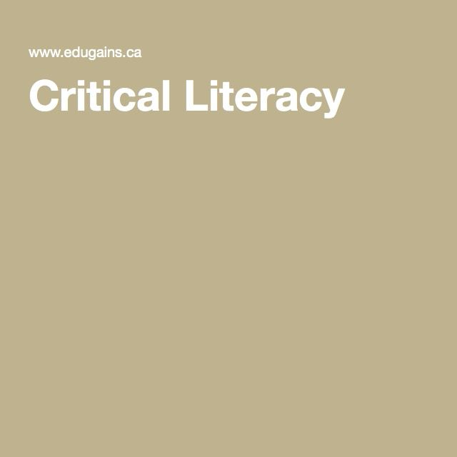 Connecting Practice and Research: Critical Literacy