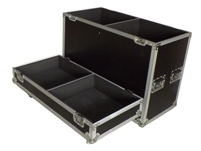 speaker audio ata flight case with 4  wheels or casters or castors   well protected your audio and speaker equipment   9mm plywood glued with HPL laminates