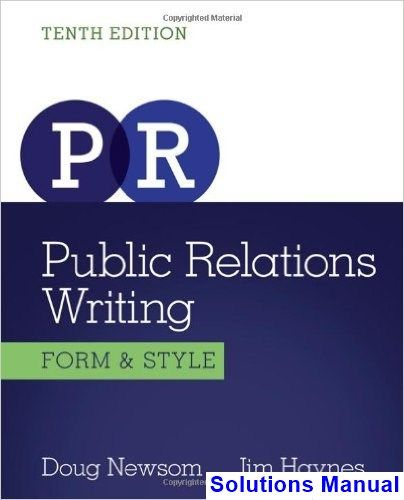 57 best solution manual download images on pinterest textbook public relations writing form and style 10th edition newsom solutions manual test bank solutions fandeluxe Images