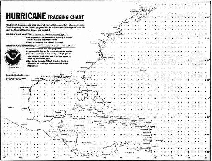 Image result for black and white hurricane tracking map