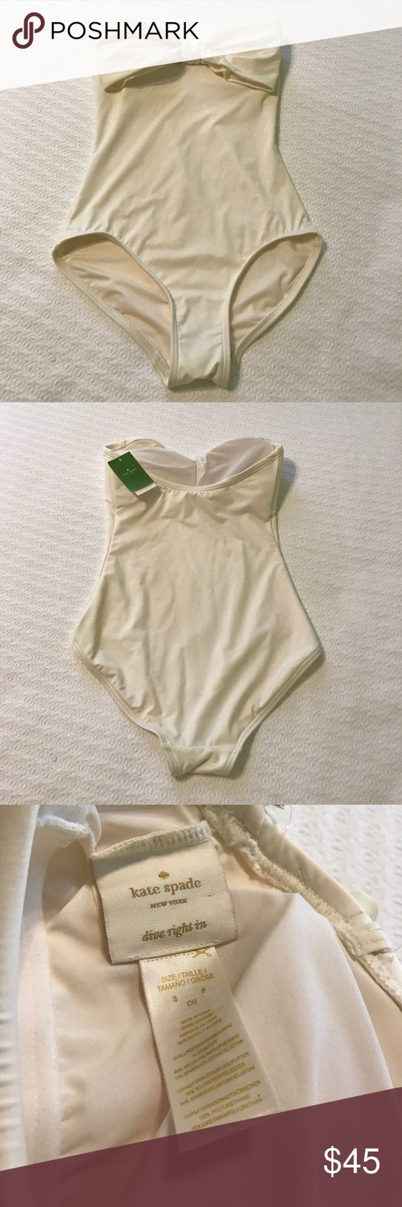Kate Spade One Piece NWT Classic cream one piece swimsuit by Kate Spade. NWT. Size S. kate spade Swim One Pieces