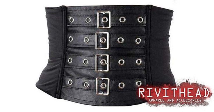 Hide Belt Destruction Nylon - Gothic corsets and bodices