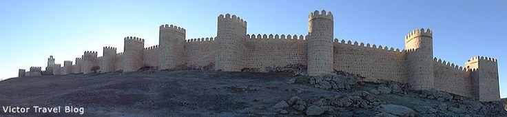 Starożytnych murów Avila.  Hiszpania.