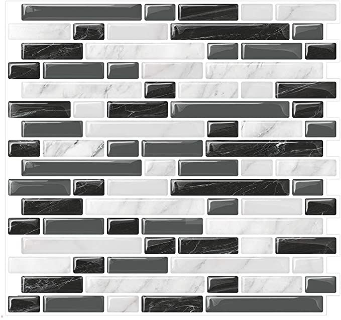 Amazon Com Yipscazo Peel And Stick Tile Backsplash Self Adhesive Backsplash Tile For K Self Adhesive Backsplash Self Adhesive Backsplash Tiles Stick On Tiles