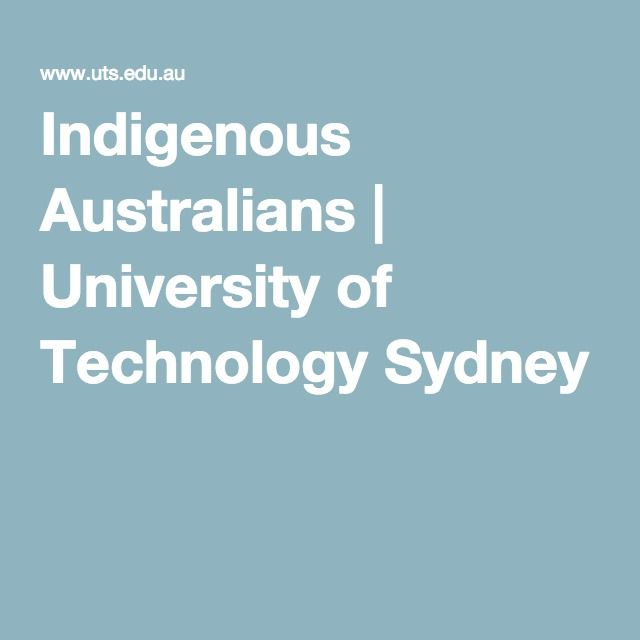 Indigenous Australians | University of Technology Sydney