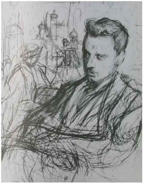 Sketch of Rainer Maria Rilke by Leonid Pasternak.