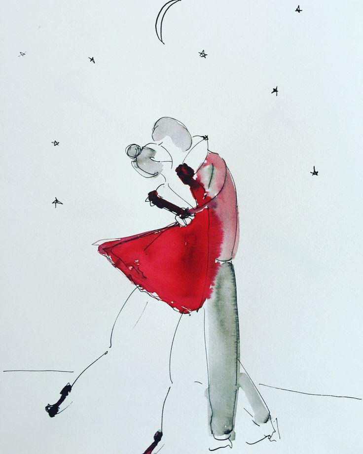 Kiss more watercolour by Anna G.