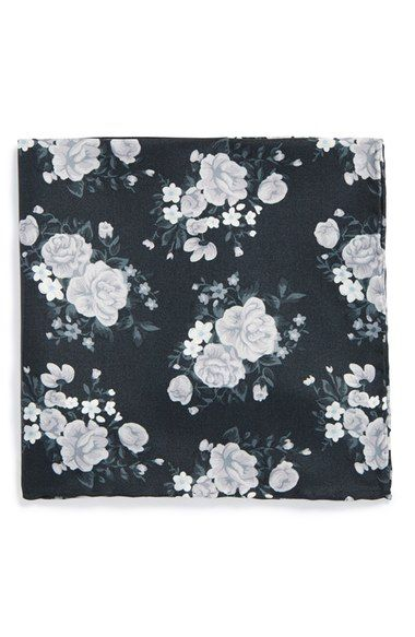 The Tie Bar Floral Silk Pocket Square (Online Only) available at #Nordstrom