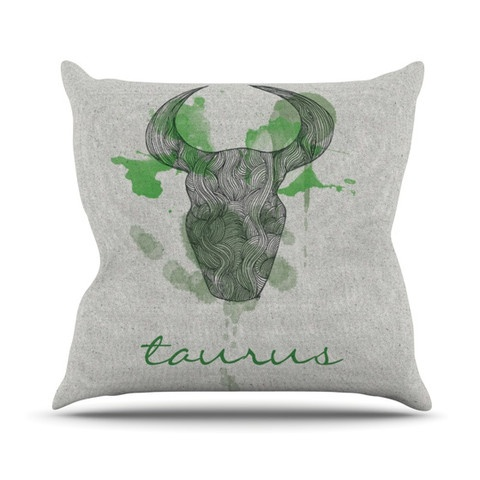 "Belinda Gilles ""Taurus"" Throw Pillow    $39.00"