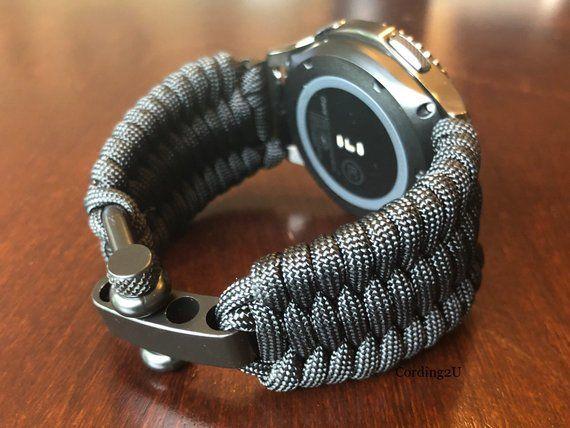 Samsung Galaxy Watch Band Galaxy 42mm Galaxy 46mm Gear S3 Etsy In 2020 Paracord Watch Watch Bands Samsung Watches